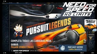 Need For Speed No Limits Android Pagani Zonda Cinque Start Series