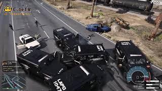 GTA 5 Cướp Xe Cảnh Sát Thiết Giáp Mới Nhập Khẩu Về Và Cái Kết Bị Truy Sát SML