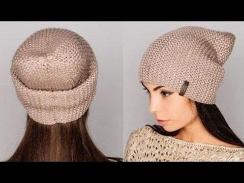 Как связать шапку бини спицами для девочки