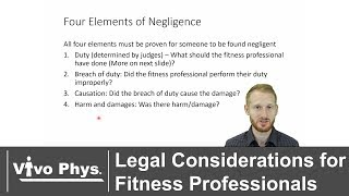 Legal Considerations for Fitness Professionals