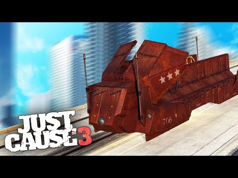 DRIVABLE TRAIN IN JUST CAUSE 3! - Just Cause 3 Mods Showcase!  