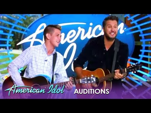Luke Bryan performs with Make-A-Wish kid during 'Idol' audition