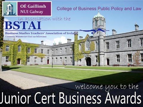 NUI Galway Junior Certificate Business Awards 2016