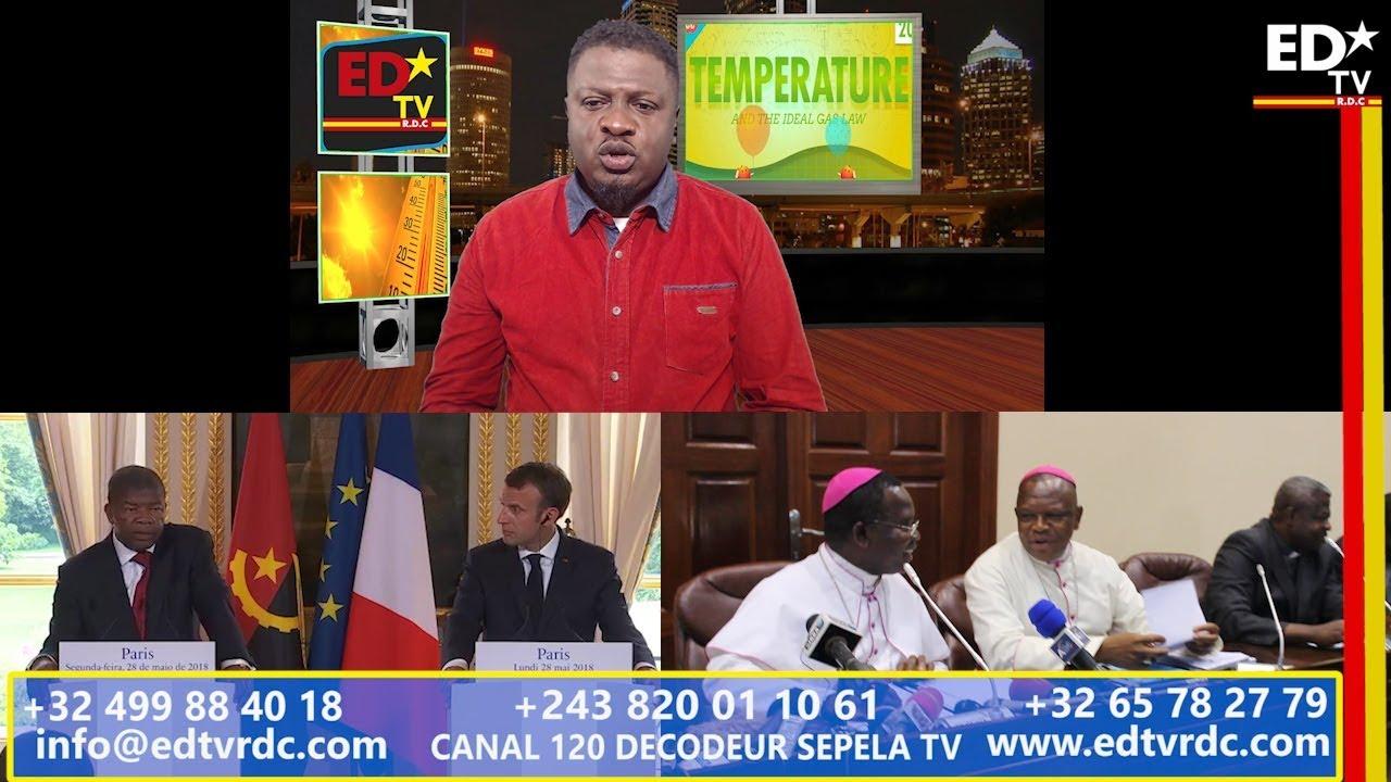 TEMPÉRATURE DU 28 MAI 2018: FRANCE NA ANGOLA BA PESI BA CONGOLAIS PASSE EN OR