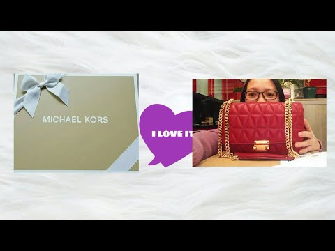 7bd2b0b9bd8b ... (Oyster Color) - So My New Michael Kors HandBag - Vivianne Quilted  Leather Bag ... UNBOXING MICHAEL KORS SLOAN LARGE QUILTED LEATHER
