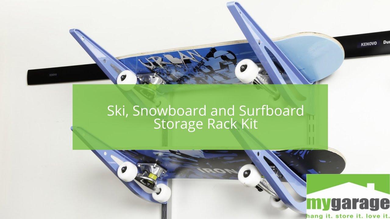Ski, Snowboard and Surfboard Rack - Storage Kit