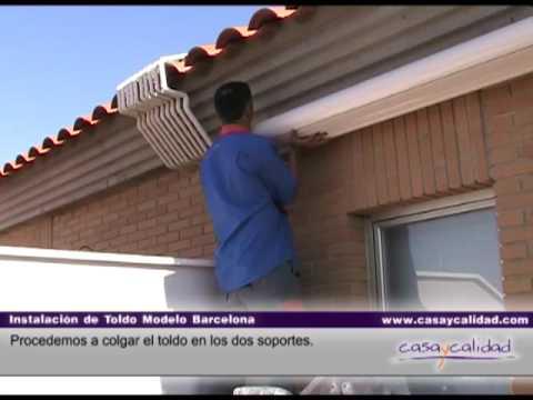 Instalacion toldo modelo barcelona parte 2 de 2 - Modelos de toldos ...