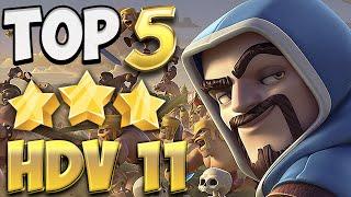 TOP 5 Attaques 3 Etoiles HDV 11 | Clash Of Clans Français