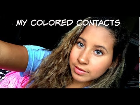 all about my colored contacts//Air Optix Colors