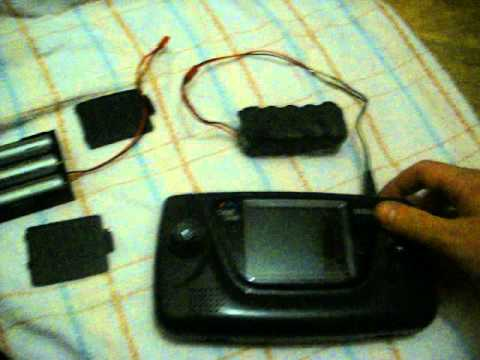 Sega Game Gear Diy power supply mod !
