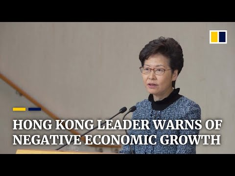 Hong Kong to register negative economic growth in 2019, leader Carrie Lam says