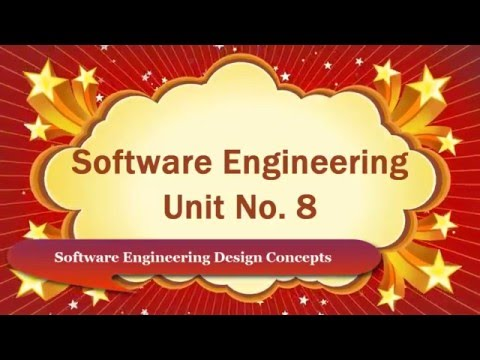Software Engineering Design Concepts Computer Education for All Unit No. 8