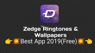 Zedge is a free application that's provide you wallpapers, video ringtones.you can also download from it.