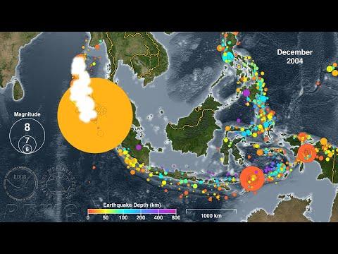 Earthquakes of Indonesia:  2004 - 2019