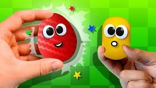 Анимационные Мультики. Открываем Киндеры с игрушками Смешарики, игрушками Лунтик. Видео для детей