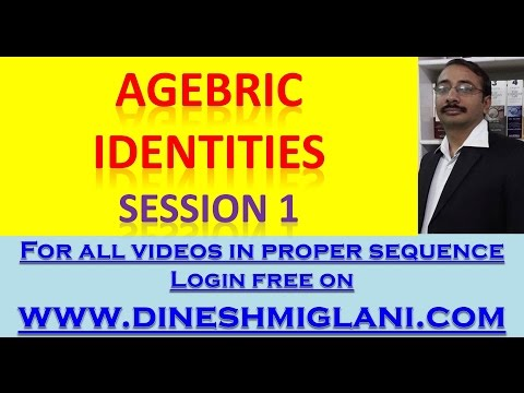 Best Tricks on Agebric Identities and Expression for SSC CGL CHSL IBPS PO CLERICAL Session 1