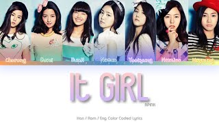 APINK (에이핑크) It Girl Color Coded Lyrics (Han/Rom/Eng)