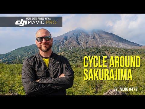 Cycling around Sakurajima Volcano
