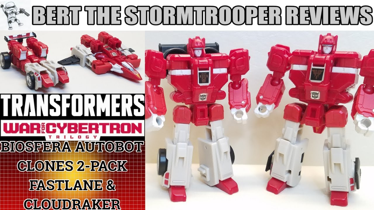 Transformers Earthrise FASTLANE & CLOUDRAKER Review by Bert the Stormtrooper!