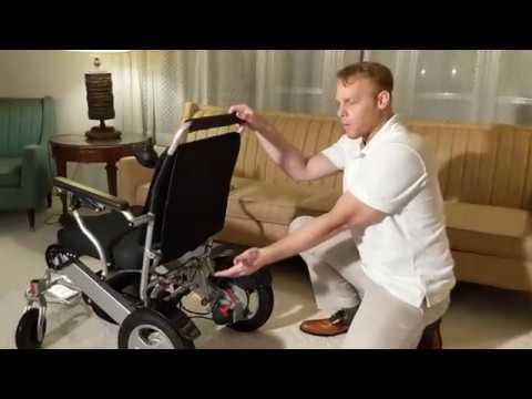 Lightweight Folding Power Wheelchair Review Youtube
