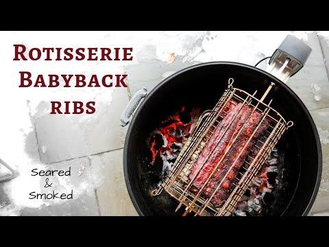Smoked Rotisserie Babyback Ribs | Weber Kettle