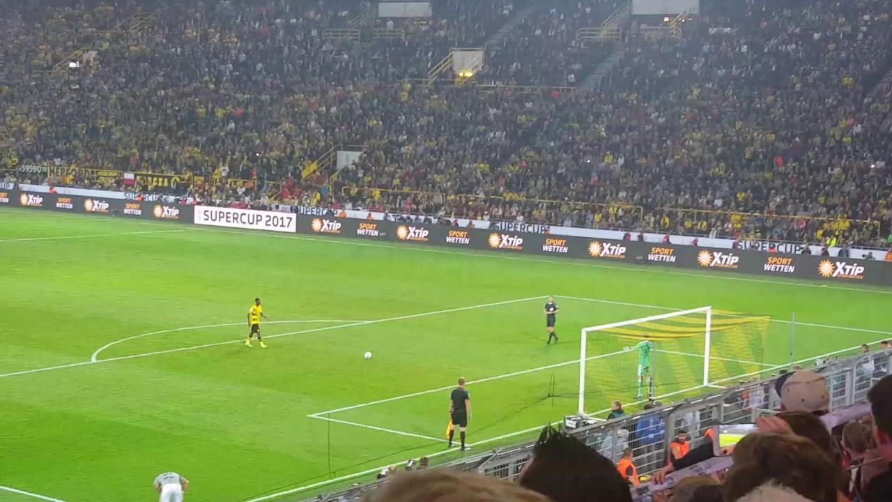 SUPERCUP 2017 ELMETERSCHIEßEN Dortmund vs. Bayern München ...
