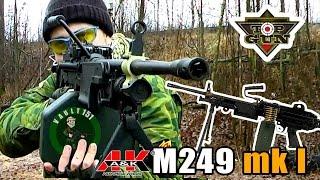 M249 mark I  A&K страйкбольный пулемет (airsoft) ENG SUB
