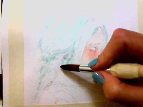 Acquerello dipingere il volto primo strato  YouTube