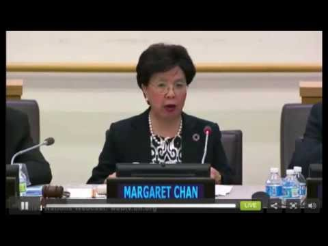 Dr Margaret Chan,  Launch Report on UN Commission on Health Employment and Economic Health