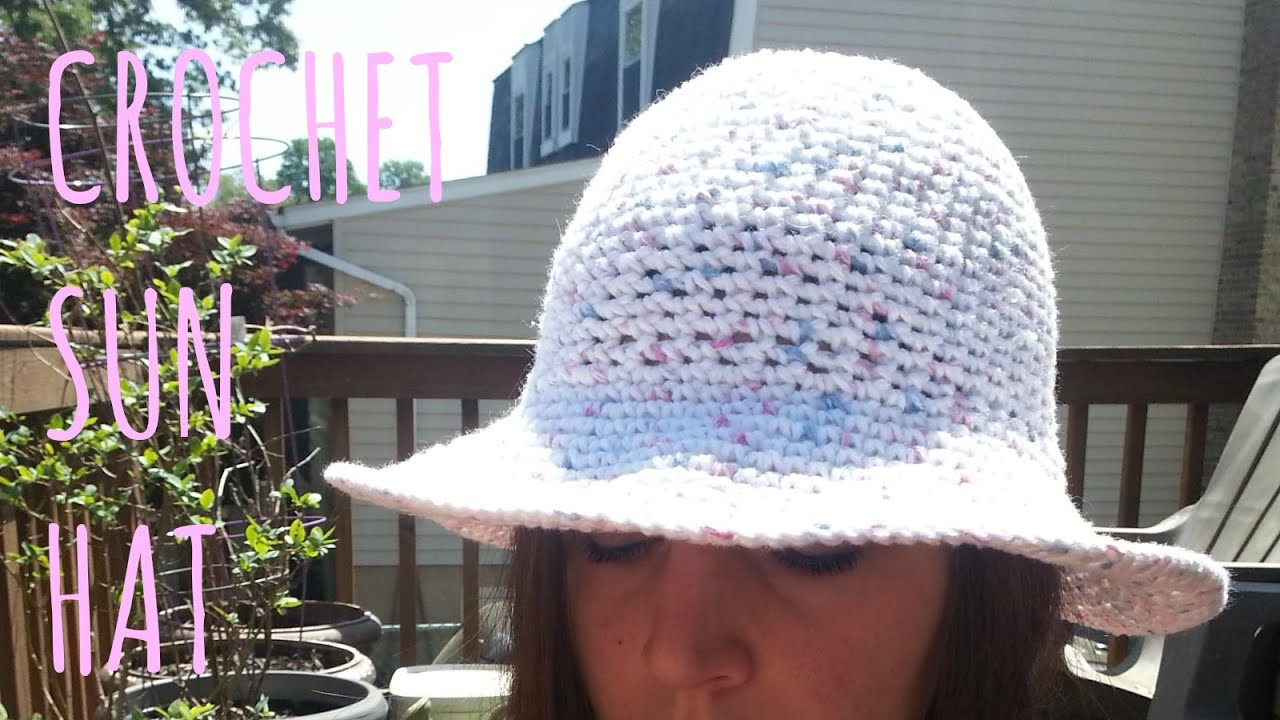 Crochet Sun Hat Pattern Amp Tutorial Youtube