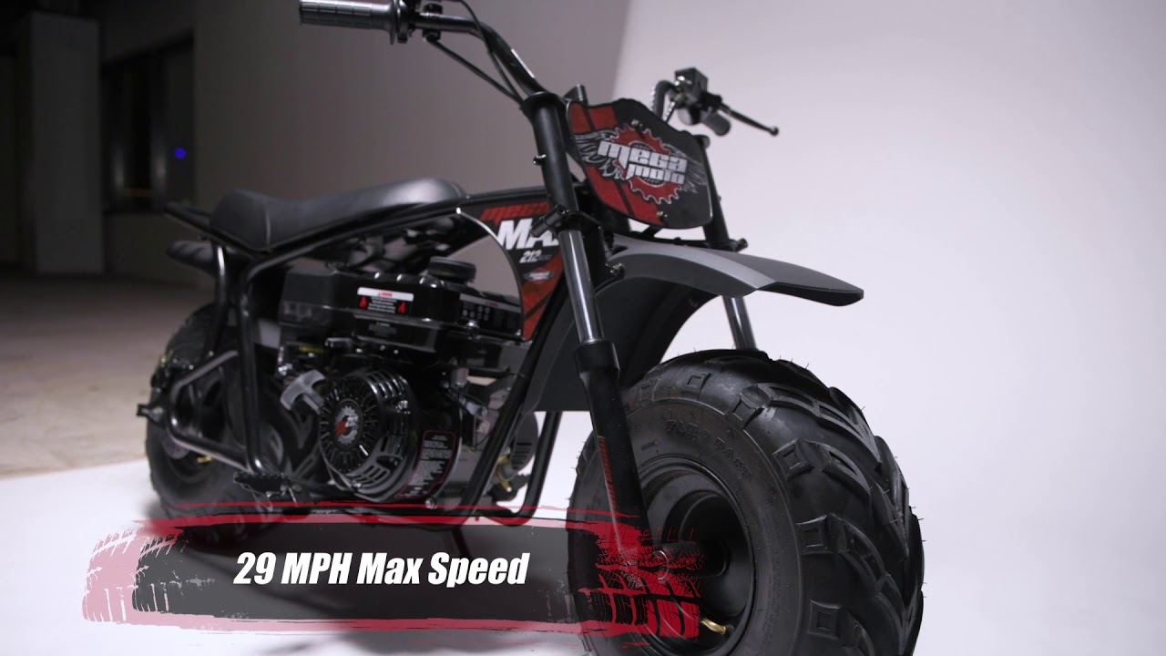 Mega Max 212cc Mini Bike with Suspension – Mega Moto