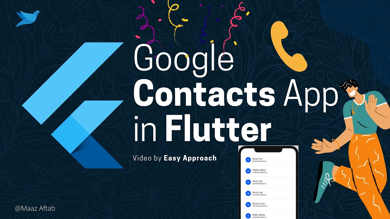 Flutter | Google Contacts app with Google Sign In and People Api integration. (2021)