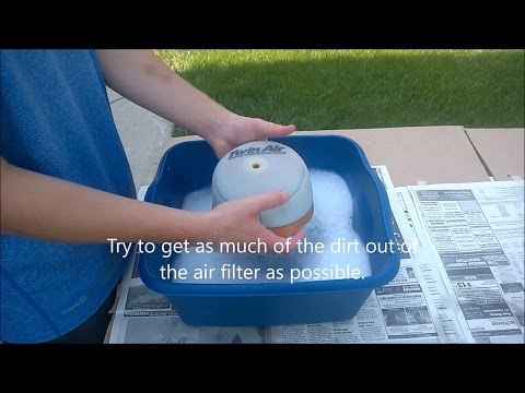 How to clean air filter on Crf150r
