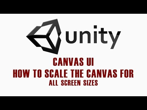 Unity 5 UI Tutorial - How to scale the canvas for all screen