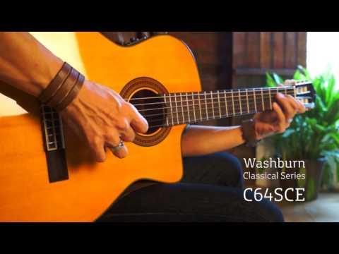 Washburn C64SCE Classical Guitar Demo from RHIGO