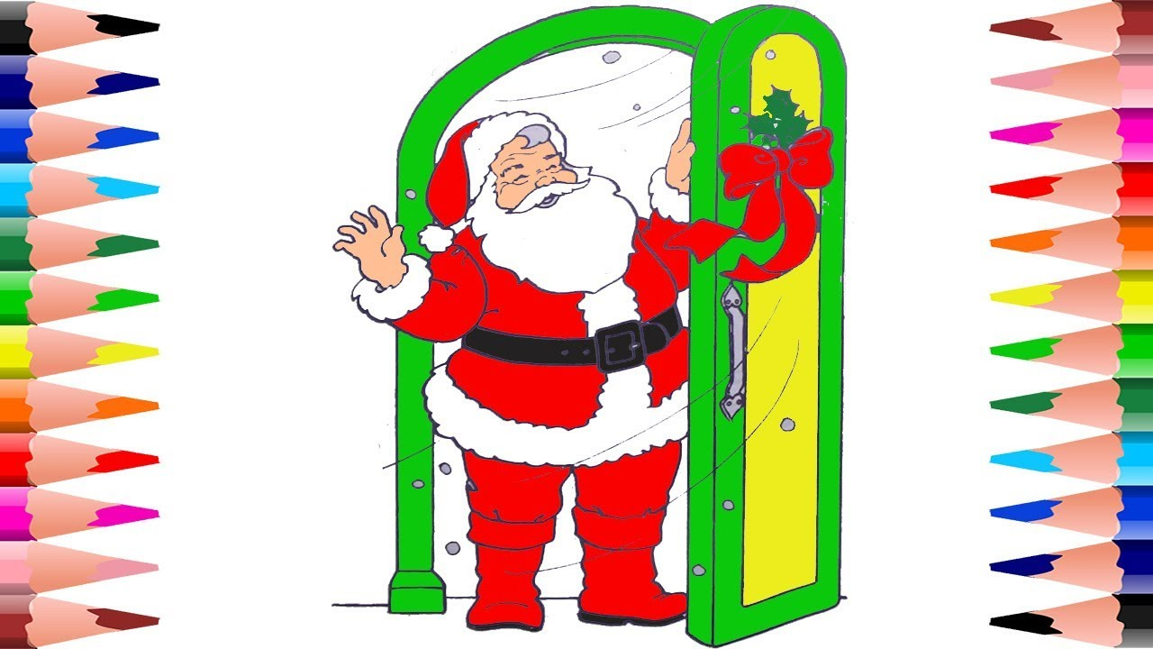 painting santa claus christmas coloring pages for kids coloring santa christmas coloring book