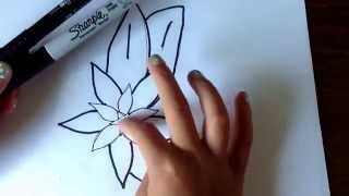How to draw a poinsettia- By Emma