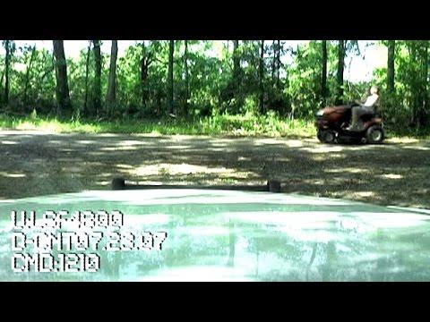 Steves Riding Lawn Mower DUI Taser Arrest