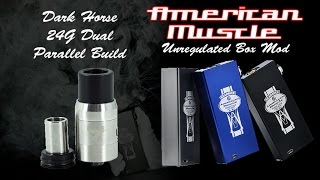 American Muscle Box Mod Review Video With Dark Horse 24g Parallel Build Tutorial