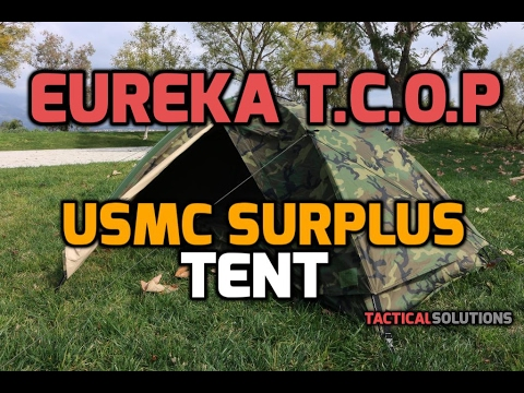 Eureka TCOP - USMC Surplus Combat Tent (Tent Combat One Person) - 1080P HD & Eureka TCOP - USMC Surplus Combat Tent (Tent Combat One Person ...