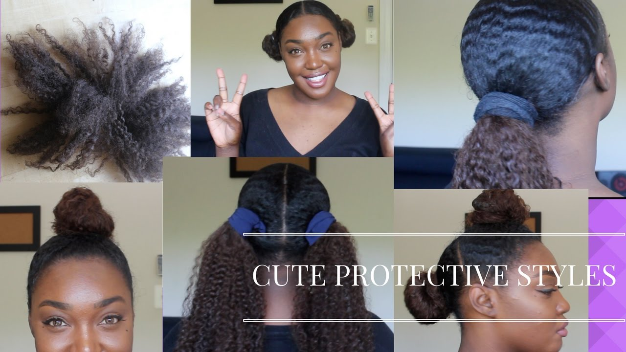 cute protective styles using some old weave/tracks - youtube