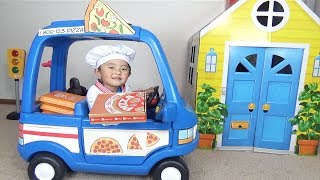 Download Pretend Play Pizza Delivery &  Cooking Food Kitchen Toy Set Mp3 and Videos