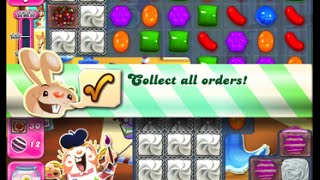Candy Crush Saga Level 1574 walkthrough (no boosters)