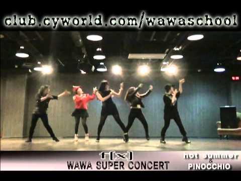 WAWA DANCE ACADEMY VOL 7. SUPER CONCERT PRACTICE FX HOT SUMMER & PINOCHHIO DANCE STEP (Western doon)