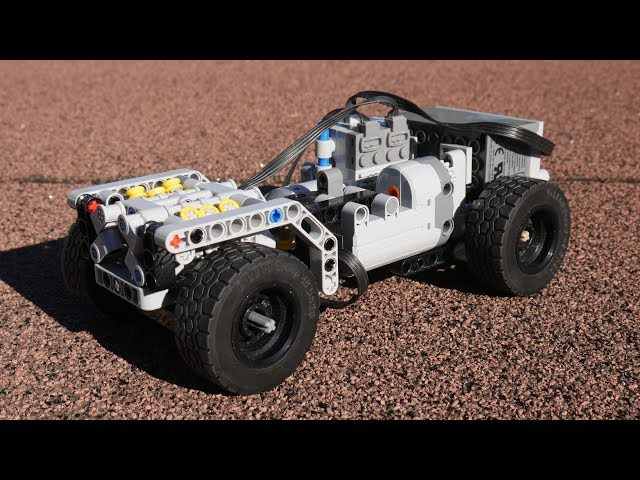 Possibly the smallest Lego Technic Chassis w/ V6 Motor? [MOC]