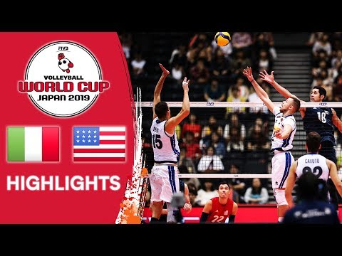 ITALY Vs. USA - Highlights | Men's Volleyball World Cup 2019