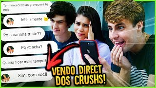 ABRI AS DIRECTS DOS CRUSHS E VI ALGO!! [ REZENDE EVIL ]