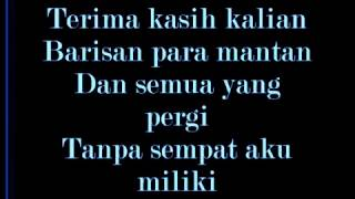 THE RAIN- Barisan para mantan [ LIRICK ] MP3