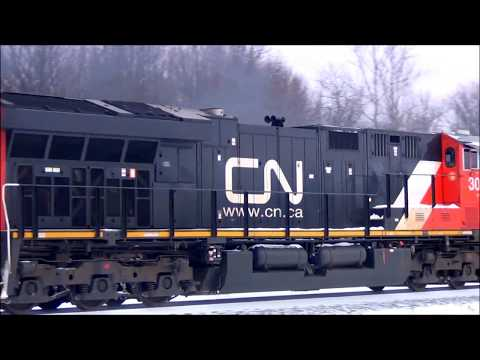 Canadian National Tier 4 Unit on Norfolk Southern Train