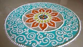 Beautiful and unique rangoli design for Diwali | Poonam Borkar Rangoli Designs